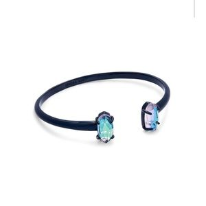 Kendra Scott Edie bangle in navy and dichroic